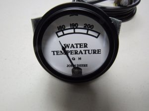 """JD R WHITE FACED WHITE FACED WATER TEMP. GAUGE W/84"""" LEAD  7775"""