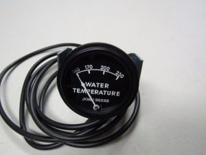 "JD 80 820 830  BLACK FACED WATER TEMP. GAUGE W/72"" LEAD  9377"